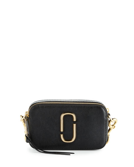 Marc Jacobs Snapshot Small Leather Camera Bag, Black