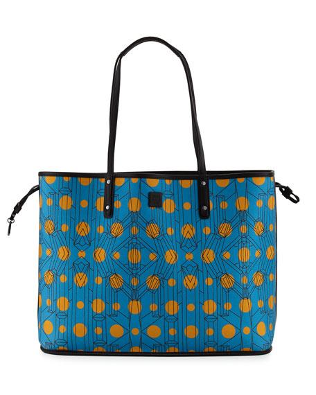 mcm large reversible shopper bag black. Black Bedroom Furniture Sets. Home Design Ideas