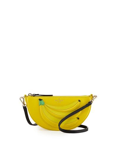 bananas leather crossbody bag
