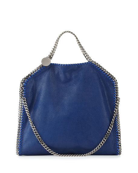 Stella McCartney Falabella Fold-Over Tote Bag, Blue Bird