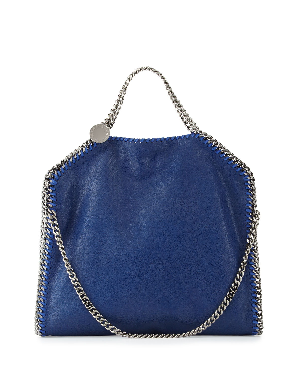 Falabella Fold Over Tote Bag Blue Bird