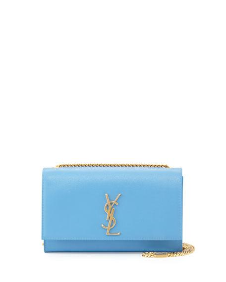 Saint Laurent Monogram Medium Calfskin Crossbody Bag, Blue
