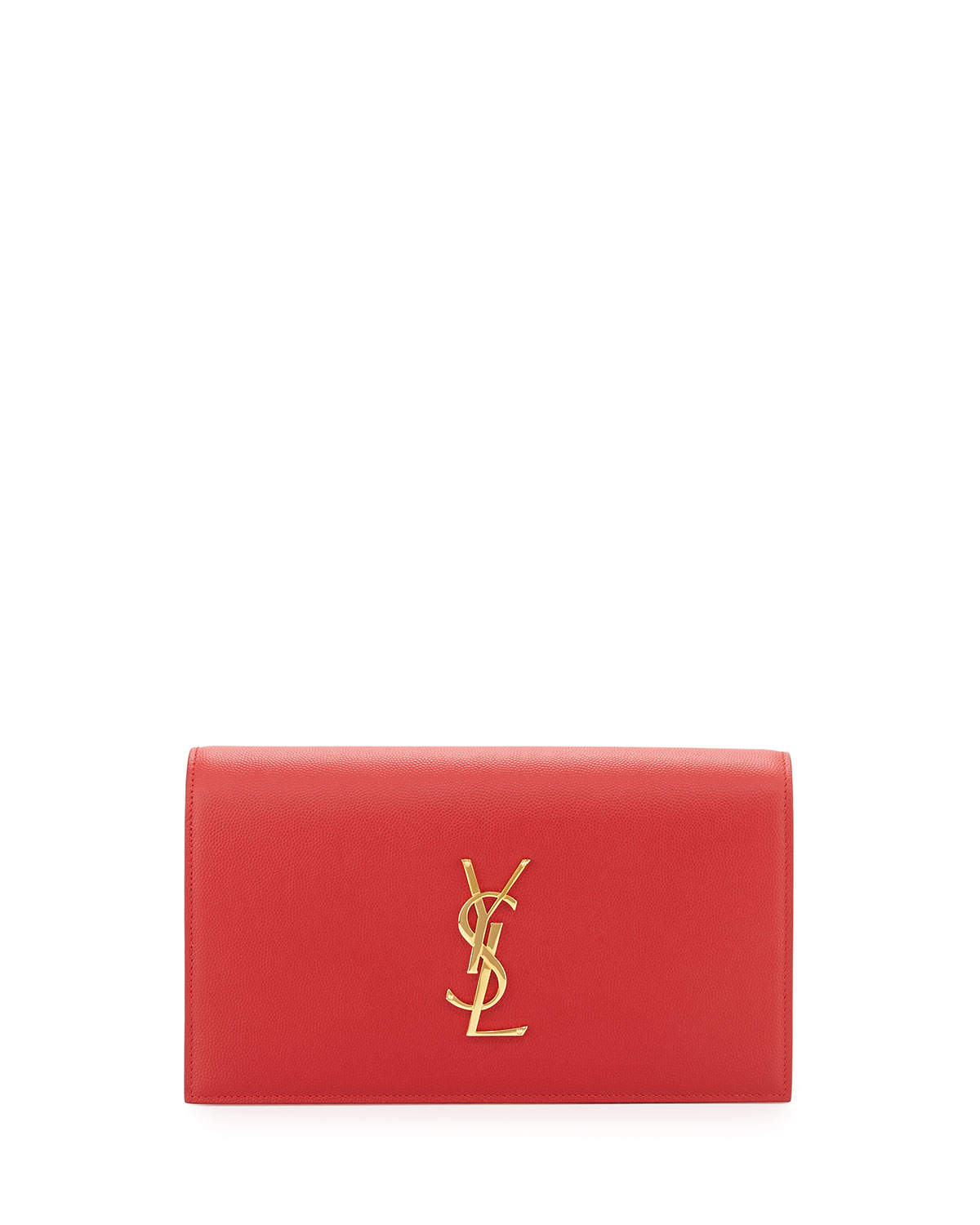the latest attractive price hot-selling clearance Monogram YSL Leather Small Clutch Bag