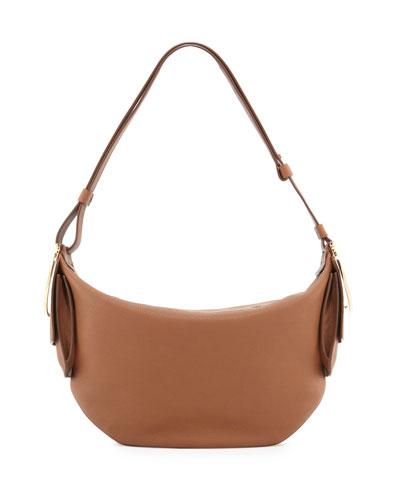Badia Gancio Bracelet Hobo Bag, Ecorce