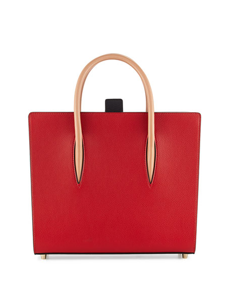 Christian Louboutin Paloma Medium Triple-Gusset Tote Bag, Red