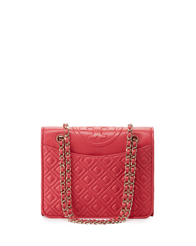 Fleming Medium Quilted Shoulder Bag, Dark Peony