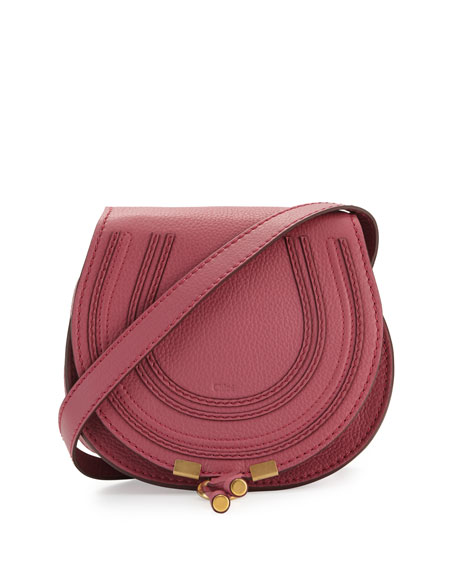 ChloeMarcie Small Leather Crossbody Bag, Pink