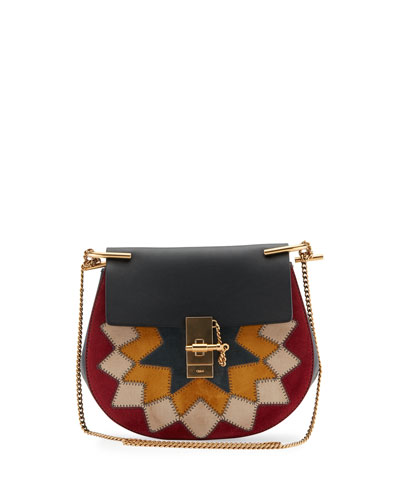 Drew Small Rosace Star Studded Shoulder Bag, Multi