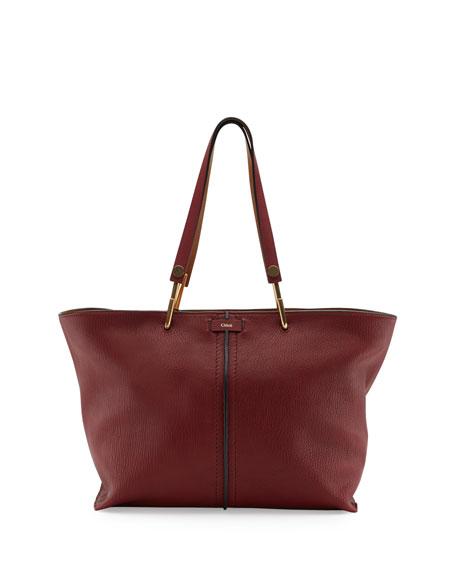 Chloe Keri Medium Grained Leather Tote Bag, Dark Red