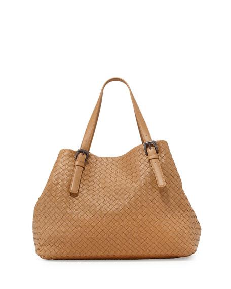 Bottega Veneta Large A-Shape Leather Tote Bag, Camel