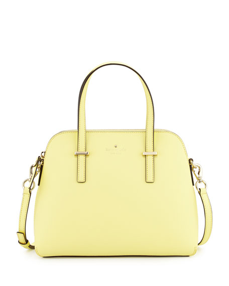 kate spade new york cedar street maise satchel bag, lemonade