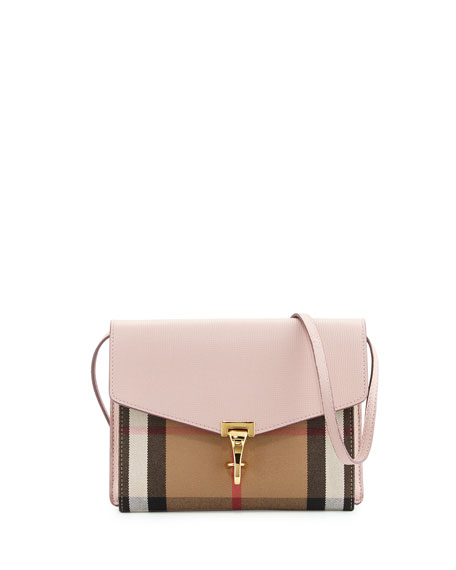 Burberry Macken Small Leather & House Check Crossbody