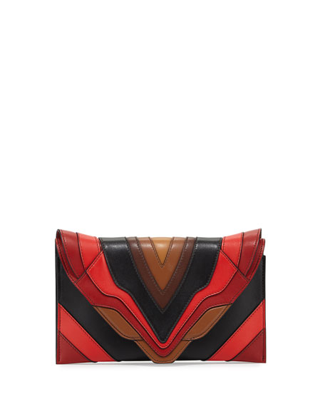 Elena Ghisellini Selina Sensua Leather Small Clutch Bag,