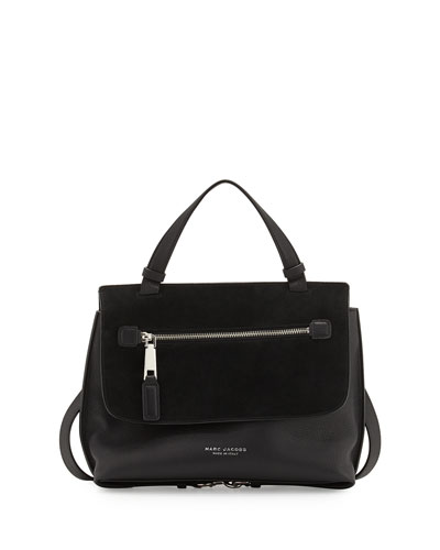 The Waverly Small Satchel Bag, Black