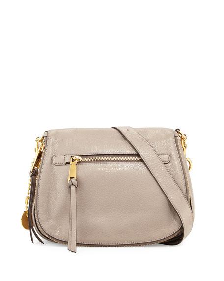 Marc Jacobs Recruit Leather Saddle Bag, Mink