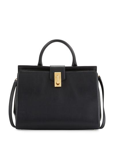 West End Large Satchel Bag, Black