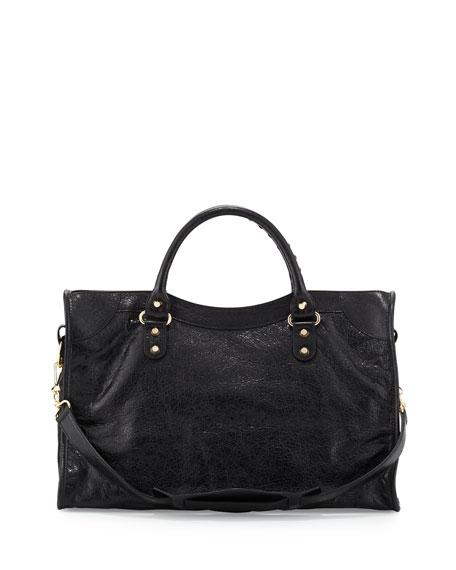 Classic Gold City Lambskin Tote Bag