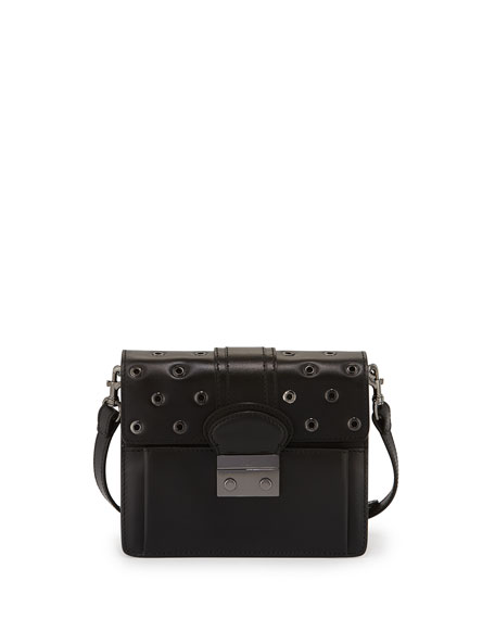 prada grommet-embellished shoulder bag