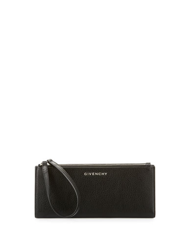 Pandora Long Double-Zip Wallet, Black