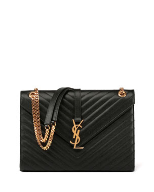 Monogram Matelasse Leather Chain-Strap Shoulder Bag