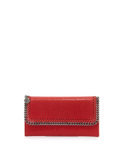 Falabella Flap-Top Wallet, Red