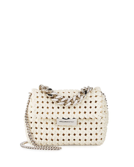 Stella McCartney Bex Small Woven Crossbody Bag, Ivory