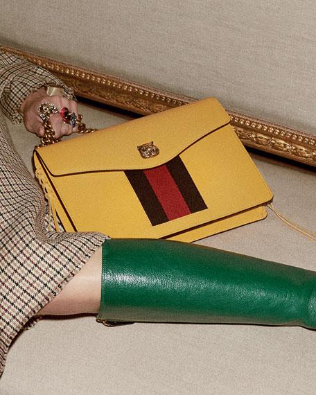 Animalier Leather Shoulder Bag