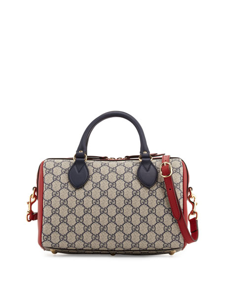 133d08bedaab Gucci GG Supreme Small Top-Handle Bag, Blue/Red/White | Neiman