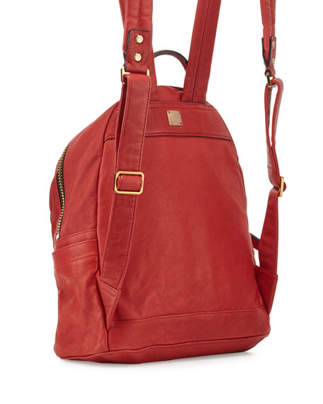 Stark Small Leather Insignia Backpack