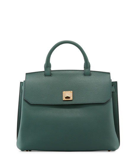 Milla Large Convertible Satchel, Forest Green
