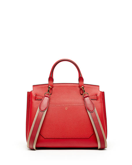 Milla Large Convertible Satchel, Ruby Red
