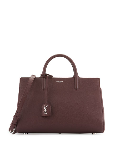 Saint Laurent Rive Gauche Small Grain Leather Satchel