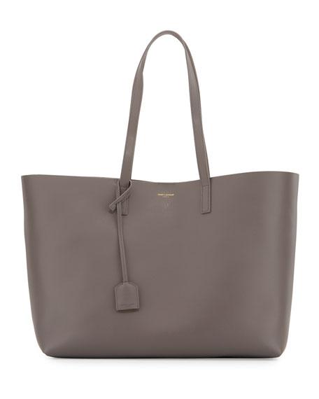 Saint Laurent Large Shopping Tote Bag, Gray