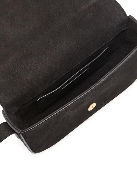 Eddie Besace Suede Serpent Shoulder Bag, Black