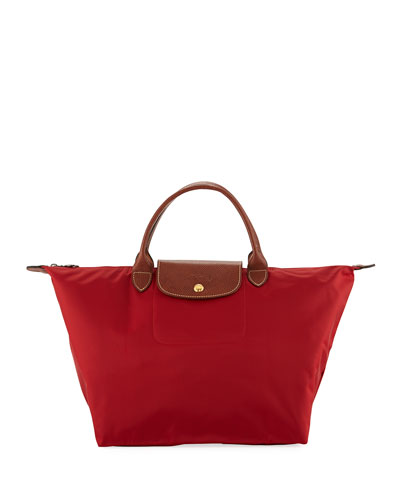Le Pliage Medium Handbag, Deep Red