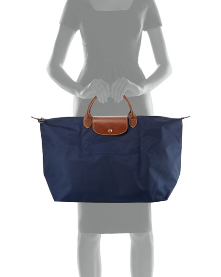 Le Pliage Large Travel Tote Bag New Navy