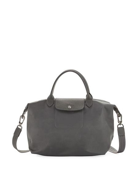prada replica backpack - Leather Trim Nylon Handbag | Neiman Marcus | Leather Trim Nylon Purse