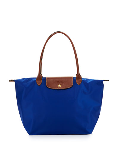 Le Pliage Large Shoulder Tote Bag, Blue