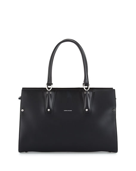 Longchamp Paris Premier Large Tote Bag, Black