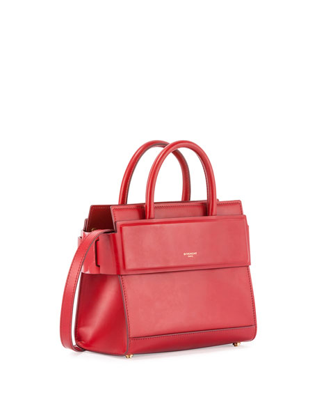 Horizon Mini Leather Satchel Bag, Red