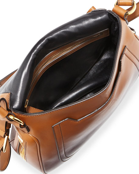 Jennifer Medium Shaded Leather Shoulder Bag