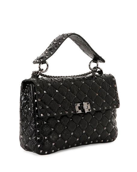 Rockstud Medium Quilted Leather Shoulder Bag