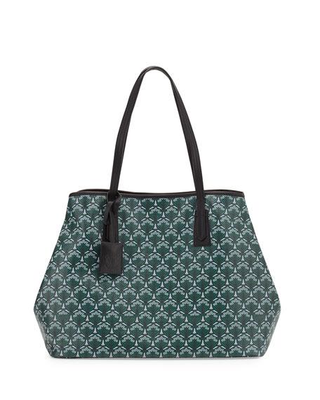 Liberty London Marlborough Iphis-Print Tote Bag, Dark Green