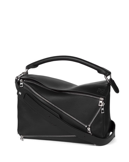 Loewe Puzzle Zips Leather Satchel Bag