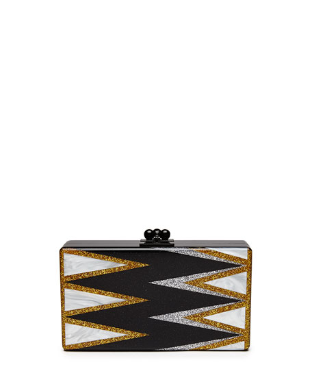 Edie Parker Jean Twist Acrylic Clutch Bag