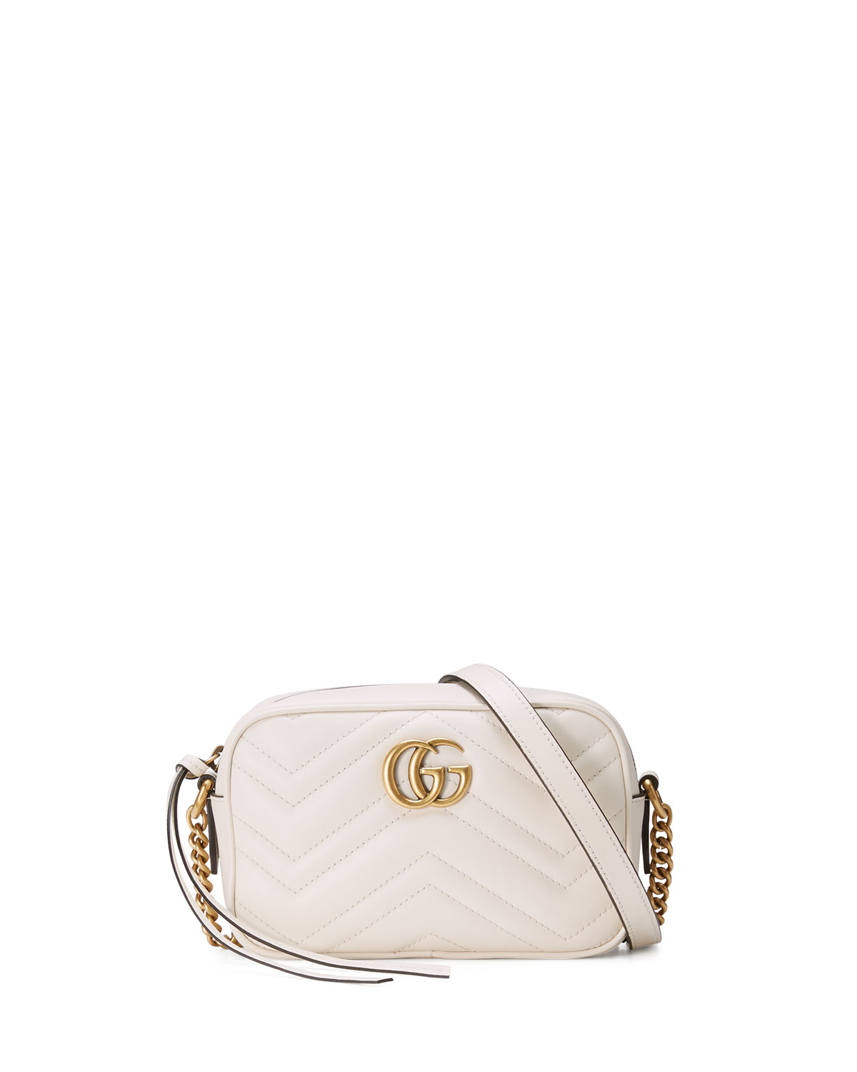 bright n colour elegant shoes special sales GG Marmont Mini Matelasse Camera Bag, White