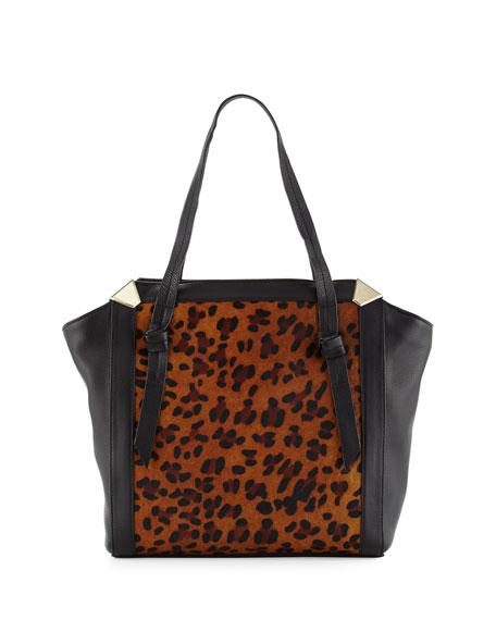 Foley + Corinna Portrait Calf-Hair Shopper Tote Bag,