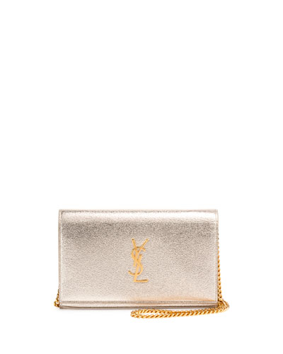 Monogram Medium Wallet-on-Chain Bag, Gold
