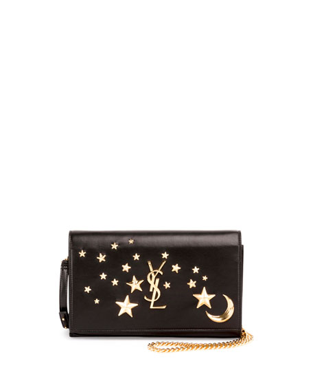 Monogram Flap Moon & Stars Wallet-on-Chain, Black