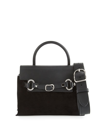 Attica Mini Chain Crossbody Bag, Black